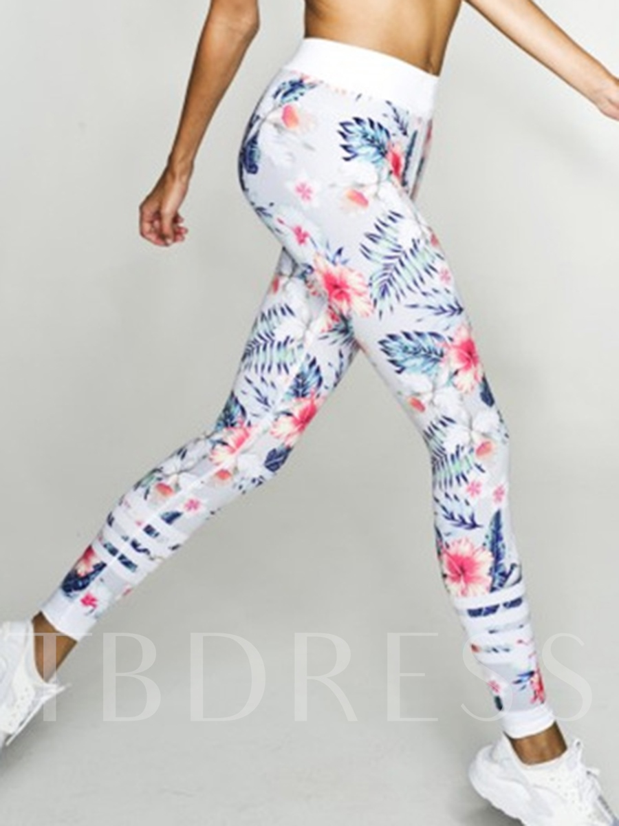 Patchwork Tight Floral Print Running&Yoga Leggings