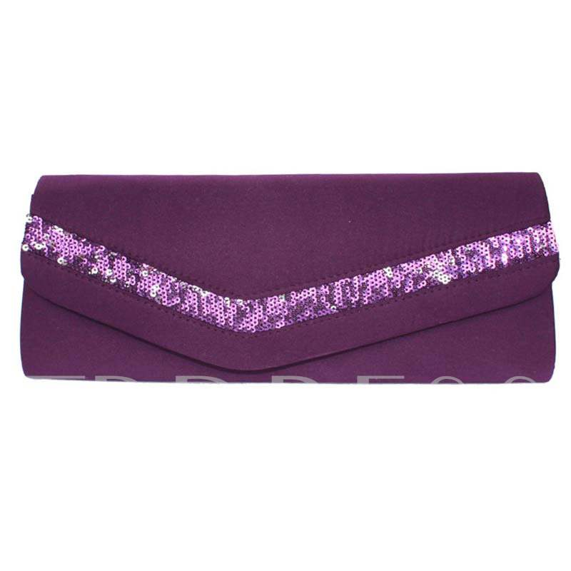 Korean Style Solid Color Silk Evening Clutch