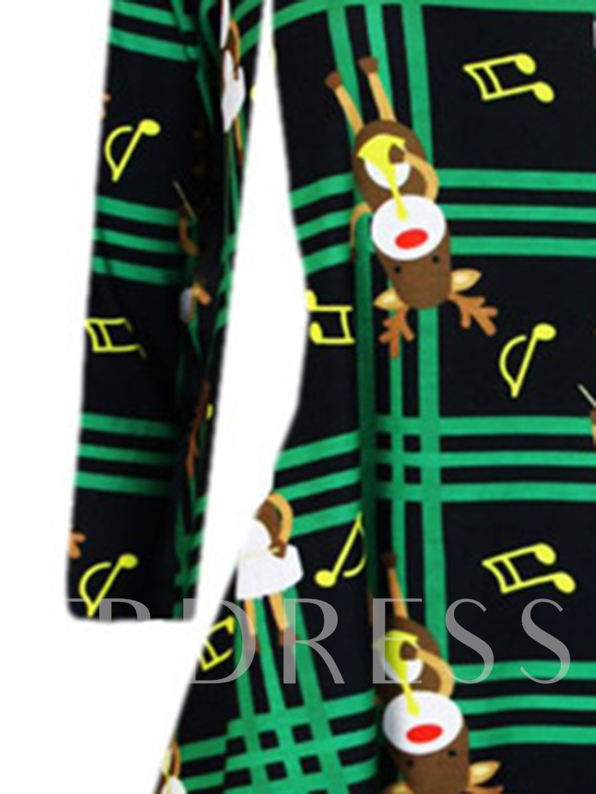 Pullover Christmas Pattern Women's Day Dress