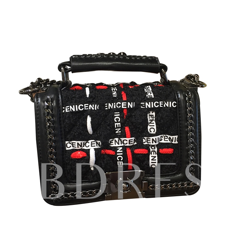 Personality Letter Pattern Design Cross Body Bag