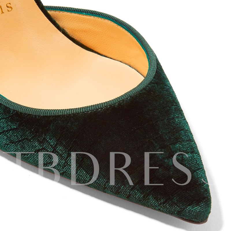 Green High Heels Suede Slip On Pumps for Women(Plus Size Available)