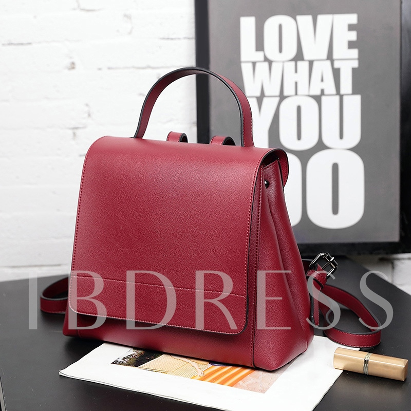 Casual Solid Color Soft PU Backapack