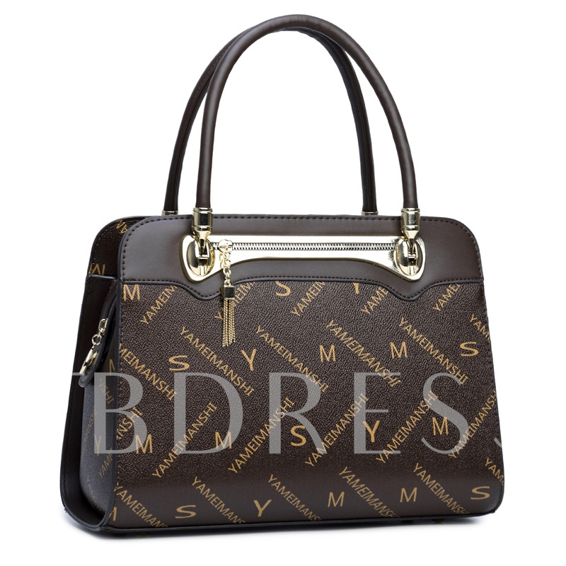 Ladylike Letter Prints Design Women Tote