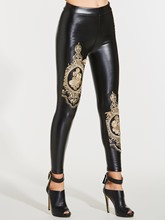 Floral Embroidery High-Waist Women's Leggings