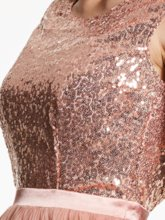 Scoop Neck Backless Sequins Short Cocktail Dress