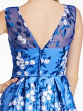 Scoop Neck Zipper-Up A Line Prom Dresss