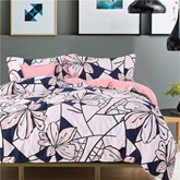 Peachy Pink Flowers Creative Design 4-Piece Cotton Bedding Sets