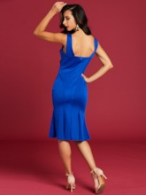Plain Slash Neck Backless Women's Day Dress