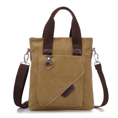 Casual Canvas Zipper Men' Bag