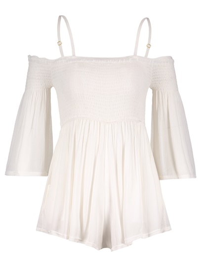 Frill Trim Pleated Cami Women's Romper