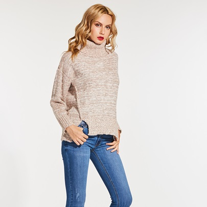 Turtleneck Batwing Sleeve Loose Women's Sweater
