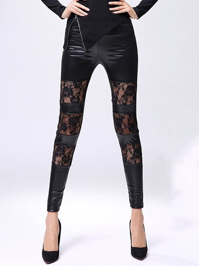 Lace Patchwork Perspective Women's Long Underwear