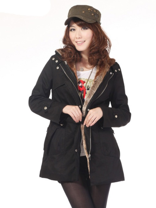 Straight Mid-Length Women's Cotton Padded Jacket