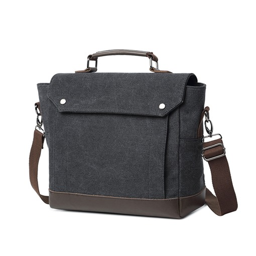 Trendy Plain Canvas Men's Bag