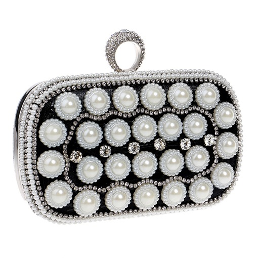 Classic Pearl Decoration Mini Evening Clutch