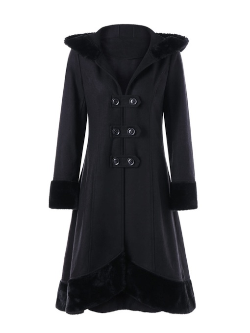 Loose Asymmetric Double-Breasted Regular Fall Women's Overcoat