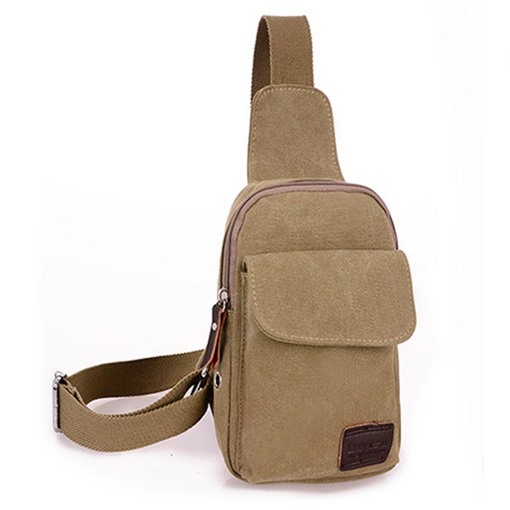 Casual Solid Color Men's Sling Bag