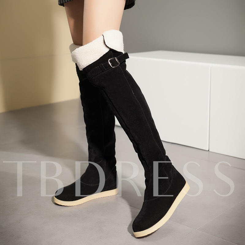Platform Plush Turn Calf Boots for Women
