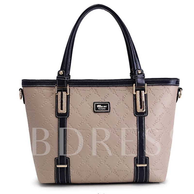 Casual Belt-Decorated Color Block Women Shoulder Bag