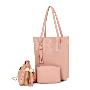 Occident Style Soft PU Zipper Women Bag Set