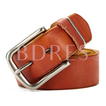 Upper Cowhide Alloy Washable Artificial Leather Men's Belts