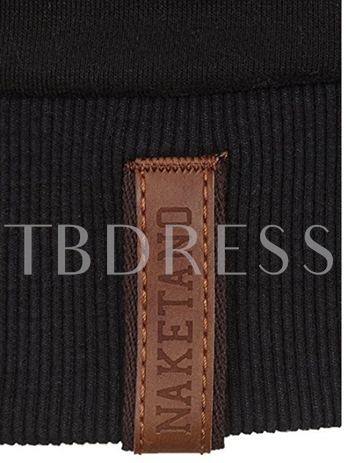 Turtleneck Zipper Cotton Slim Men's Jacket