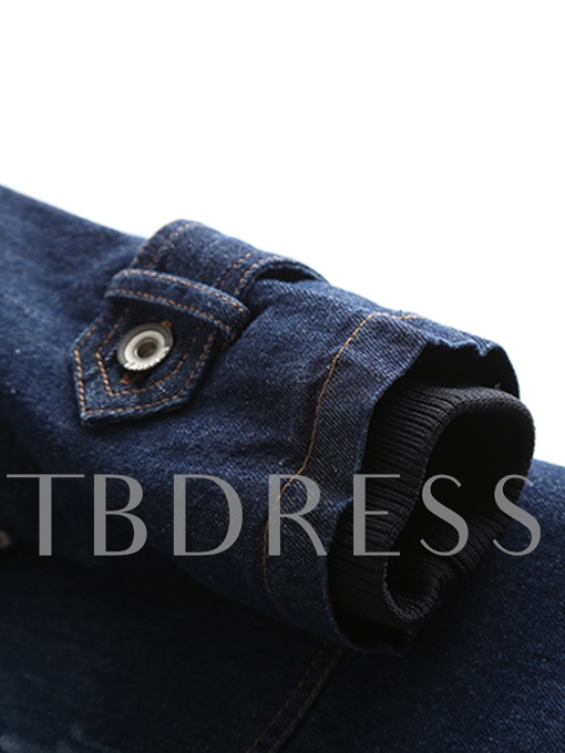 Denim Hooded Pocket Slim Fit Women's Overcoat