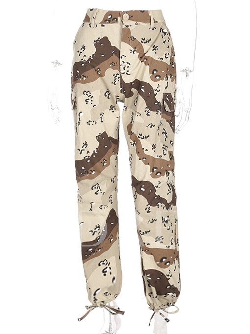 Camouflage Leopard Print Loose Women's Casual Pants