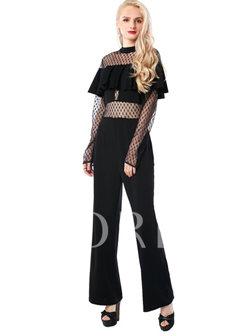 Perspective Sexy High Waisted Black Women's Jumpsuits