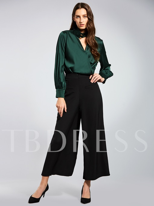 Color Block Long Sleeve Full Length Women's Two Piece Set