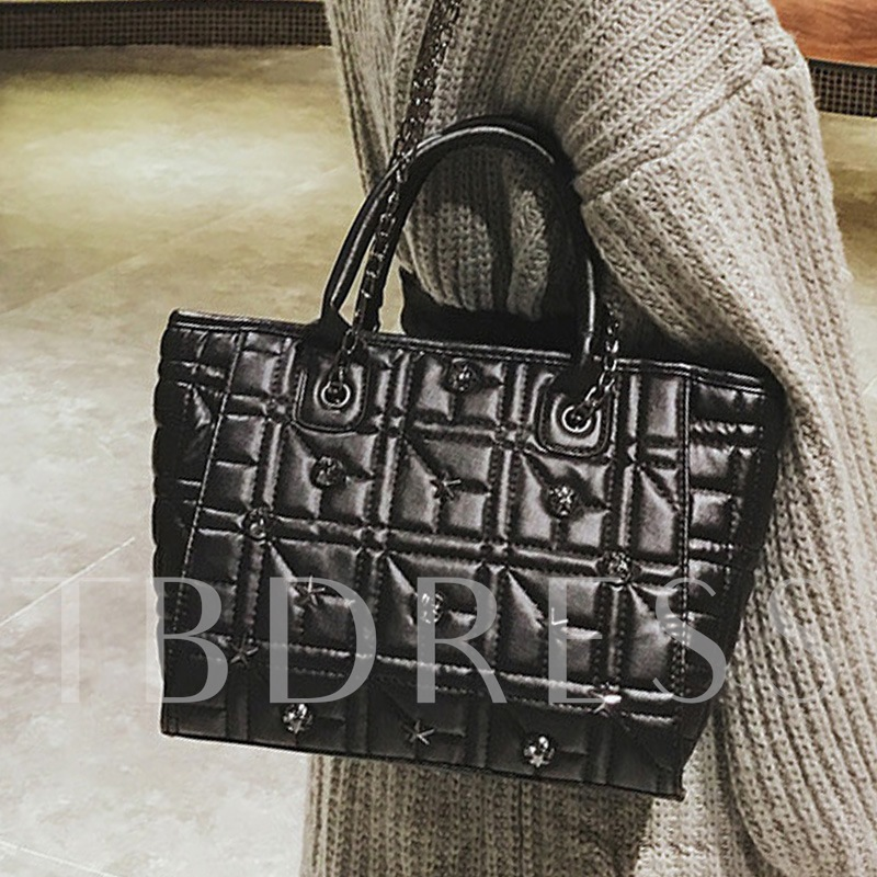Vogue Quilted Lining Chain Women Tote Bag