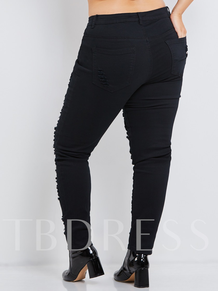 Black Hole Skinny Plus Size Women's Jeans