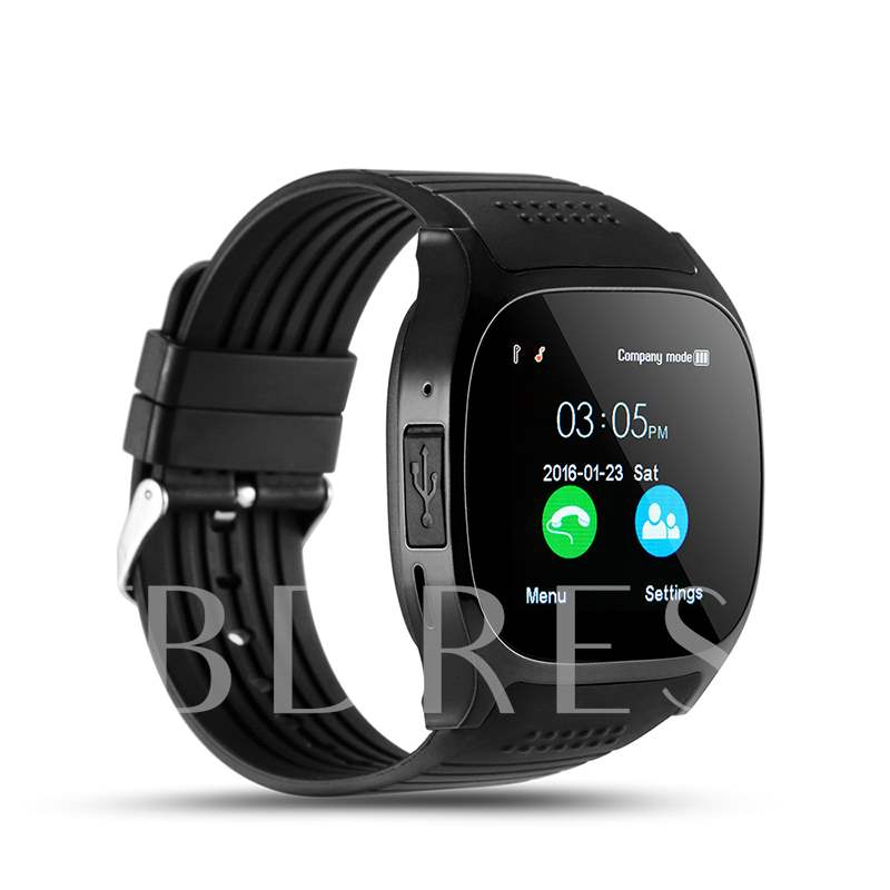 Cheap T8 Smart Watch Phone with SIM Slot/Camera for iPhone Android Phones