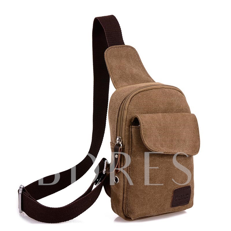 Casual Solid Color Men's Chest Pack
