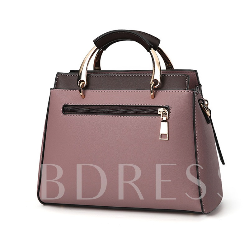 Korean Style Stripe Pattern Zipper Women Tote