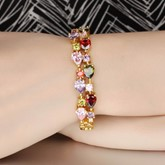 Cubic Zirconia Rhinestone Alloy Hollow Out African Bracelet