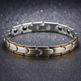 Silver Plated Stainless Steel Overgild African Bracelet