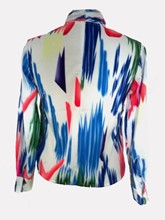 Geometric Long Sleeve Women's Blouse