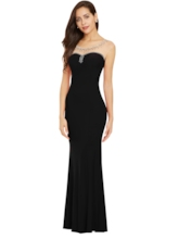 Bateau Neck Backless Beaded Evening Dress
