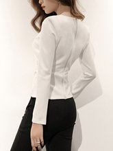 Plain Pullover Slim Fit Women's Blouse