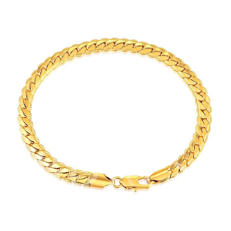 Image of Gold Wheat Shaped Plain Hot Sale African Bracelet