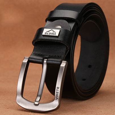pin buckle artificial leather cowhide simple mens belts