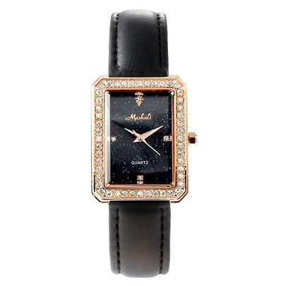 Rectangle Diamante Analogue Display Watches