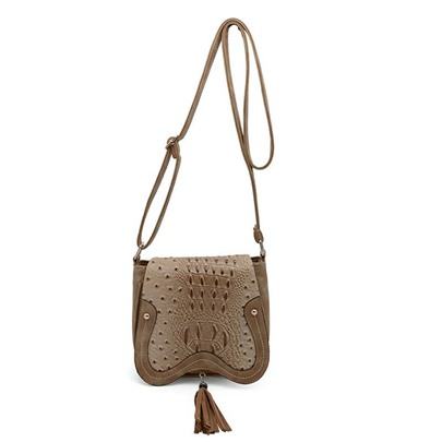 Casual Solid Color Saddle Cross Body Bag