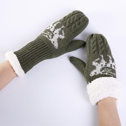 Christmas Hot Drilling Thicken Keep Warm Gloves