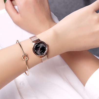 Stainless Steel Simple Alloy Quartz Watches