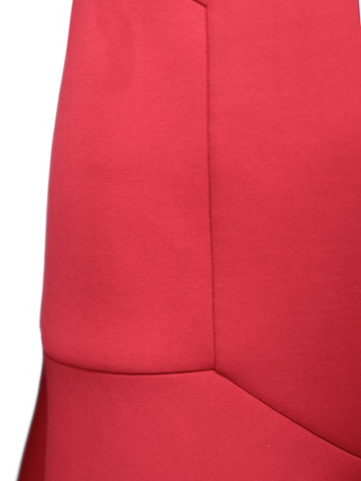 Red Half Sleeve Fishtail Women's Bodycon Dress