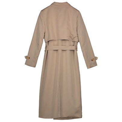 Slim Lapel Double-Breasted Women's Trench Coat