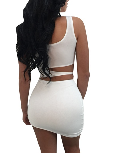 Plain Cuts-out Bodycon Women's Sexy Dress