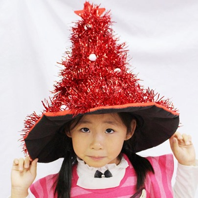 Christmas Tree Star Shining Straw Hats
